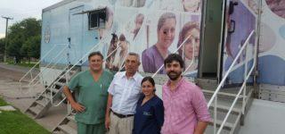 """La localidad de nuestro departamento fue beneficiada por el Ministerio de Salud con la visita de los denominados """"camiones sanitarios"""" que posibilitaron a la población de acceder a consultas médicas gratuitas."""