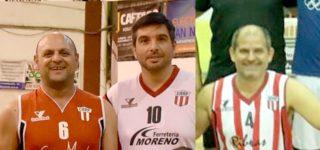 Luciano Valenti, Iván Peirano y Nicolás Gasanea son los tres jugadores de Riberas que quedaron seleccionados en el combinado de San Nicolás Maxibásquet +35 años, que este fin de semana disputará el Campeonato Provincial bonaerense en la ciudad de Junín.