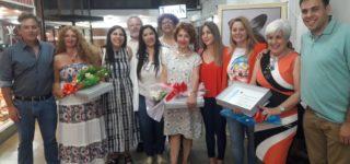La EOS Villa, cerró la muestra de la Galería San Martín con diversas actividades y el reconocimiento del Concejo Municipal a las artistas protagonistas.