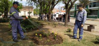 Mientras continúan los trabajos de refacción y embellecimiento de la Plaza San Martín, la Comuna trabaja también en la mejora de los caminos rurales. Por otra parte desde la Cooperativa de agua comunicaron que hoy se inician tareas de mantenimiento del tanque principal.