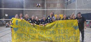 Sin perder un partido en todo el año, y ratificando su ascenso conseguido en septiembre, las tallarinas obtuvieron el título de la división A3 al derrotar a Bancario de Rosario en la final.