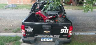 Un joven se llevó sin autorización su moto que se encontraba incautada en la Comuna de Empalme. Como parte de la investigación para dar con el rodado y el sospechoso del hurto, personal policial realizó un amplio operativo. La moto fue encontrada en la casa de la abuela del motociclista.